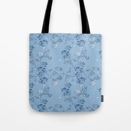 Chinoiserie in China Blue Tote Bag