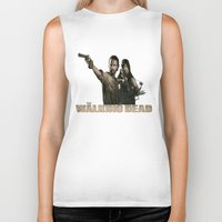 walking dead Biker Tanks featuring Walking Dead by store2u
