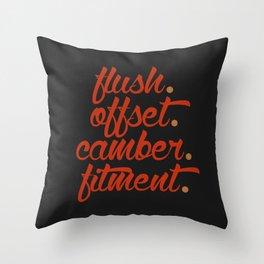 flush offset camber fitment v1 HQvector Throw Pillow