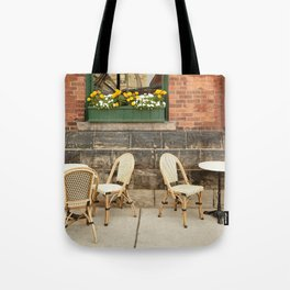 Morning Cafe Tote Bag