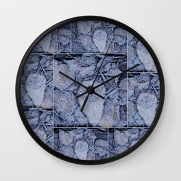 Frost & Leaves Wall Clock