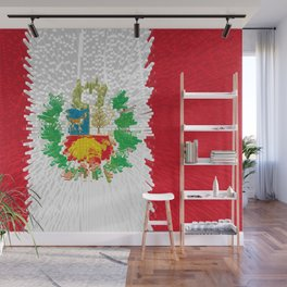 Extruded flag of Peru Wall Mural