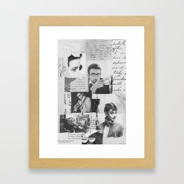 Creative Portrait Collage of 1950's Icons Framed Art Print