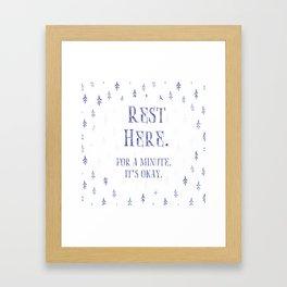 Rest Here. Framed Art Print
