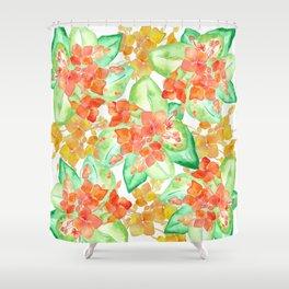 Succulent flowers Shower Curtain