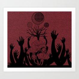 Poppy and Tree Art Print