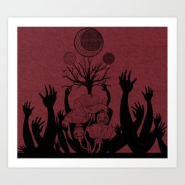 Poppy and Tree Art Print