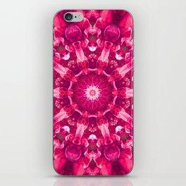 Pink mandala of the stones iPhone Skin
