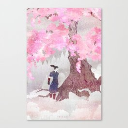 Tengami - Winter Cherry Tree (Portrait) Canvas Print