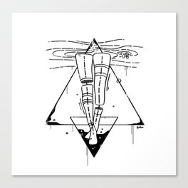 Midnight Bath - Black & White Canvas Print