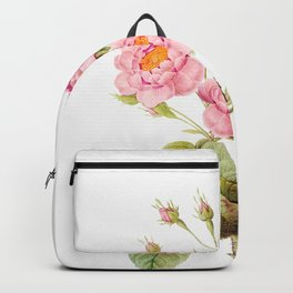 Vintage & Shabby Chic - Bunch of Pink English Roses Backpack