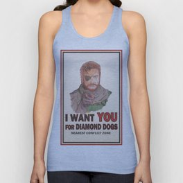 I Want YOU For Diamond Dogs Unisex Tank Top