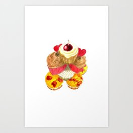 Scrumptious Cupcakes Art Print