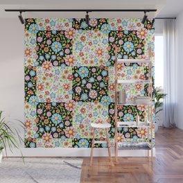Millefiori Floral Patchwork Wall Mural
