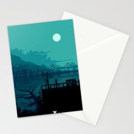 Dark Harbor Stationery Cards