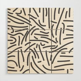 long and short dotted lines Wood Wall Art