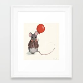 la souris au ballon Framed Art Print