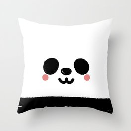 Pandamic Mask Throw Pillow