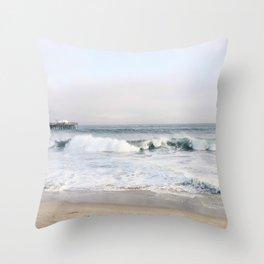 Crashing waves & hazy skies Throw Pillow
