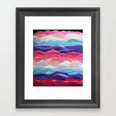 Colour waves II Framed Art Print