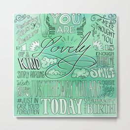 Lovely (Green) Metal Print