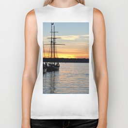 SHIPS AT SUNSET Biker Tank
