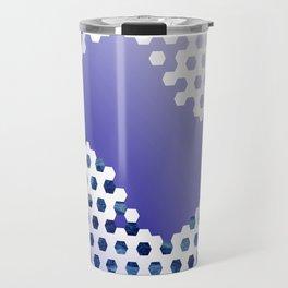 Soccer Pattern 8 - Blue/White Travel Mug