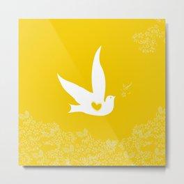 Wings of Love - Golden & Yellow Metal Print