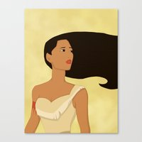 pocahontas Canvas Prints featuring Pocahontas by Citron Vert