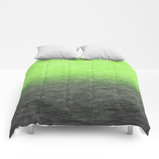 Ombre Lime Comforters