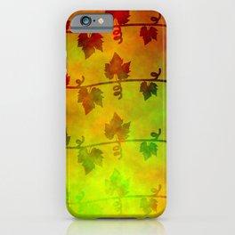 Harvest Time Vines Design iPhone Case
