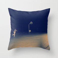 The Skateboarder Throw Pillow