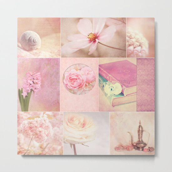 COLLECTION SOFT PINK Metal Print