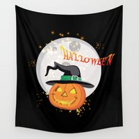 Halloween's pumpkin Wall Tapestry