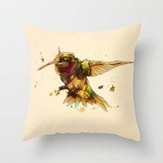 android hummingbird Throw Pillow
