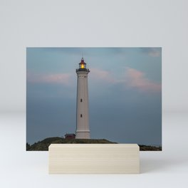 Lighthouse Sunset Landscape Mini Art Print