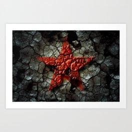Red Star Of Chernobyl Art Print