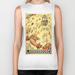 Vintage poster - London Underground Biker Tank
