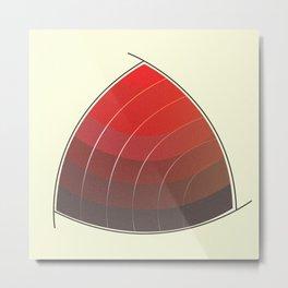 Le Rouge-Orangé (ses diverses nuances combinées avec le noir) Vintage Remake, no text Metal Print