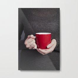 Red Mug Metal Print