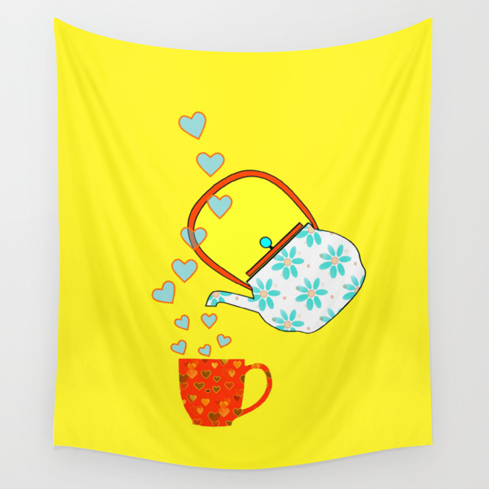 A Nice Cup Of Tea Wall Tapestry by Kathleensartoris TPS7091241