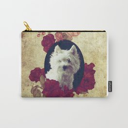 Westie & Roses Vintage Pure Frame Carry-All Pouch