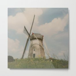 A mill in rural The Netherlands Metal Print
