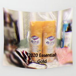 Golden Essentials of 2020 Wall Tapestry