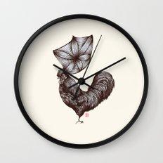 Hen's 3D hair Wall Clock
