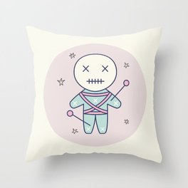 Voodoo Doll Throw Pillow