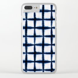 Shibori Squares Clear iPhone Case