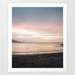 Coles Bay Sunset Seagull Art Print