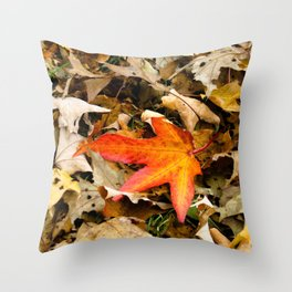 Alone and Vibrant Throw Pillow