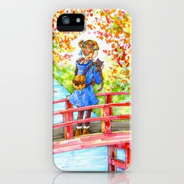 A girl with a kitten vol. 8 iPhone Case